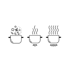 Cooking line icons set vector image