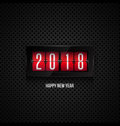 flip board clock 2018 happy new year concept vector image vector image