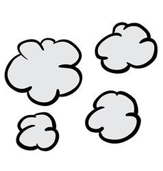 freehand drawn cartoon puff of smoke vector image
