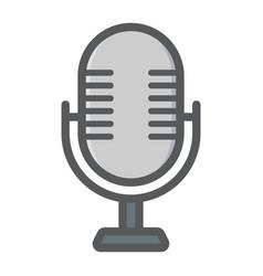 Microphone colorful line icon studio sound vector