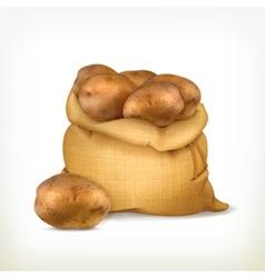 Sack of potatoes icon vector image vector image