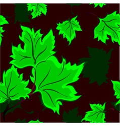 Seamless background with falling leaves vector image vector image