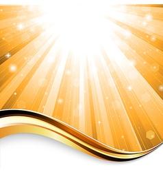 sunbeam background vector image