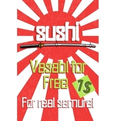 Sushi color banner vector image