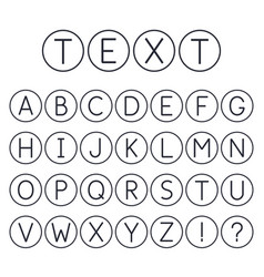 abstract font collection alphabet capital letters vector image