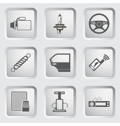 Car part and service icons set vector image