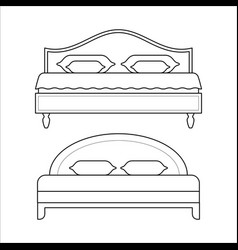 double beds - furniture for bedroom vector image vector image