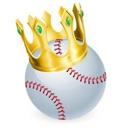king of baseball vector image vector image