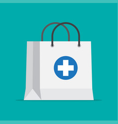 shopping bag for medical pills and bottles vector image
