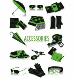 accessories silhouettes vector image