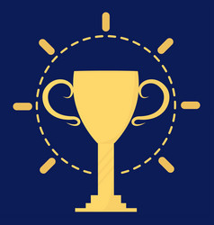 champion cup gold vector image vector image