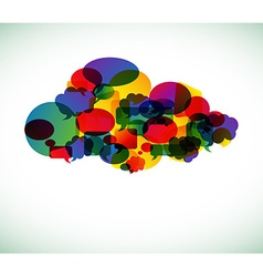 Cloud computing - vector image vector image