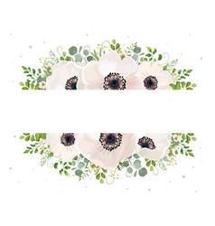 floral card watercolor design garden powder white vector image vector image