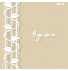 Page border decor template vector image vector image