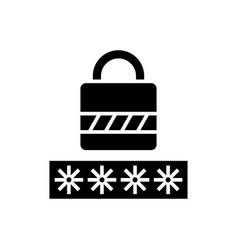 password - login lock icon vector image