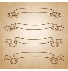 Set of banners Vintage ribbons vector image