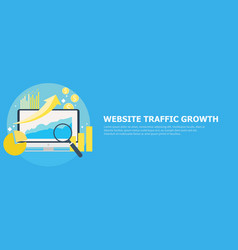 website traffic growth banner vector image vector image