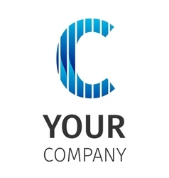 Abstract blue logo C vector image