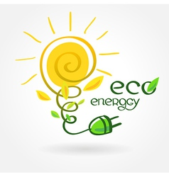 Eco energy solar sun alternative power vector