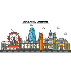 england london city skyline architecture vector image