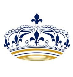 retro king crown vector image vector image