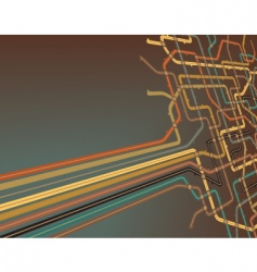 subway slant vector image vector image
