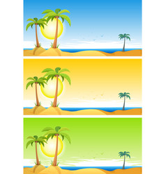 summer tropical beach set vector image