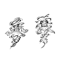Two very angry ghosts or magical genies vector image