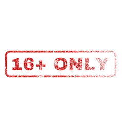 16 plus only rubber stamp vector image