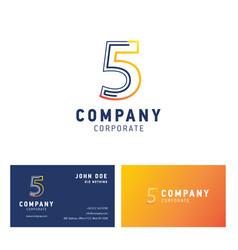 5 company logo design vector image