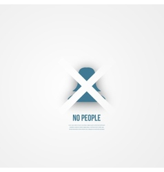 Abstact people template Anonymous icon vector