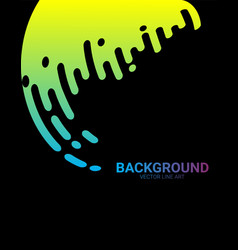 Abstract black background with dynamic circle vector