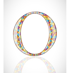 Abstract letter O vector image