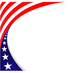 American flag decorative holiday banner frame vector
