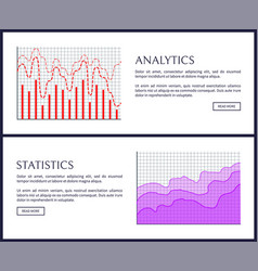 analytics and statistics pages vector image