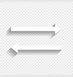 Arrow simple sign white icon with soft vector