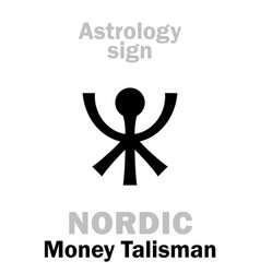 Astrology nordic talisman vector