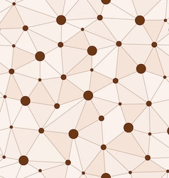Atomic Background with Interconnected Brown Dots vector image