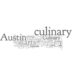 Austin culinary arts school vector