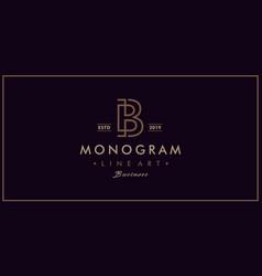 b vintage logo design inspiration vector image