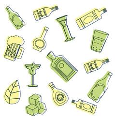 bar drinks pattern background vector image