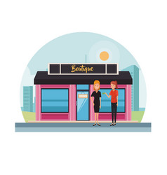 Boutique store at city vector
