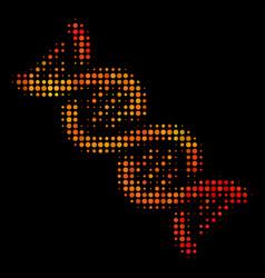 Bright dot dna spiral icon vector