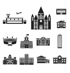 building repair black icons in set collection for vector image