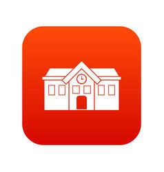 Chapel icon digital red vector