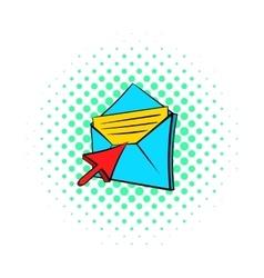 Choice e-mail icon pop-art style vector
