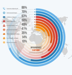 Circle informative infographics 9 options vector