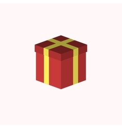 Close Red Gift Box Party icon vector