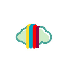 cloud ink colors logo vector image