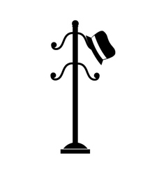 coat rack hat cloathing icon graphic vector image